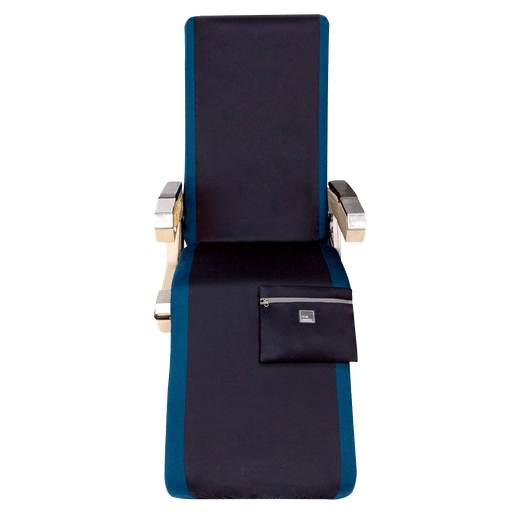 First Class Lie-Flat Bed Airplane Seat Cover in Blue Melange - Free Mask with purchase