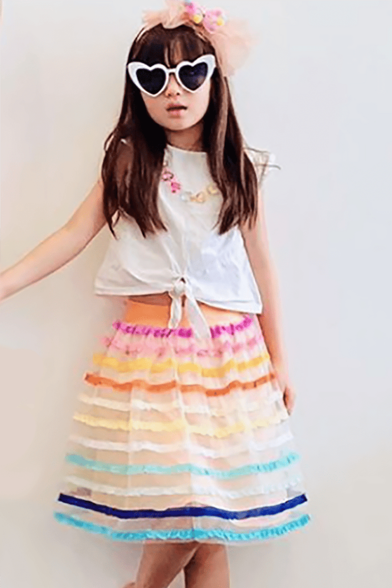 Eva Franco Girls Aluna Skirt in Rum Sunset - Girls
