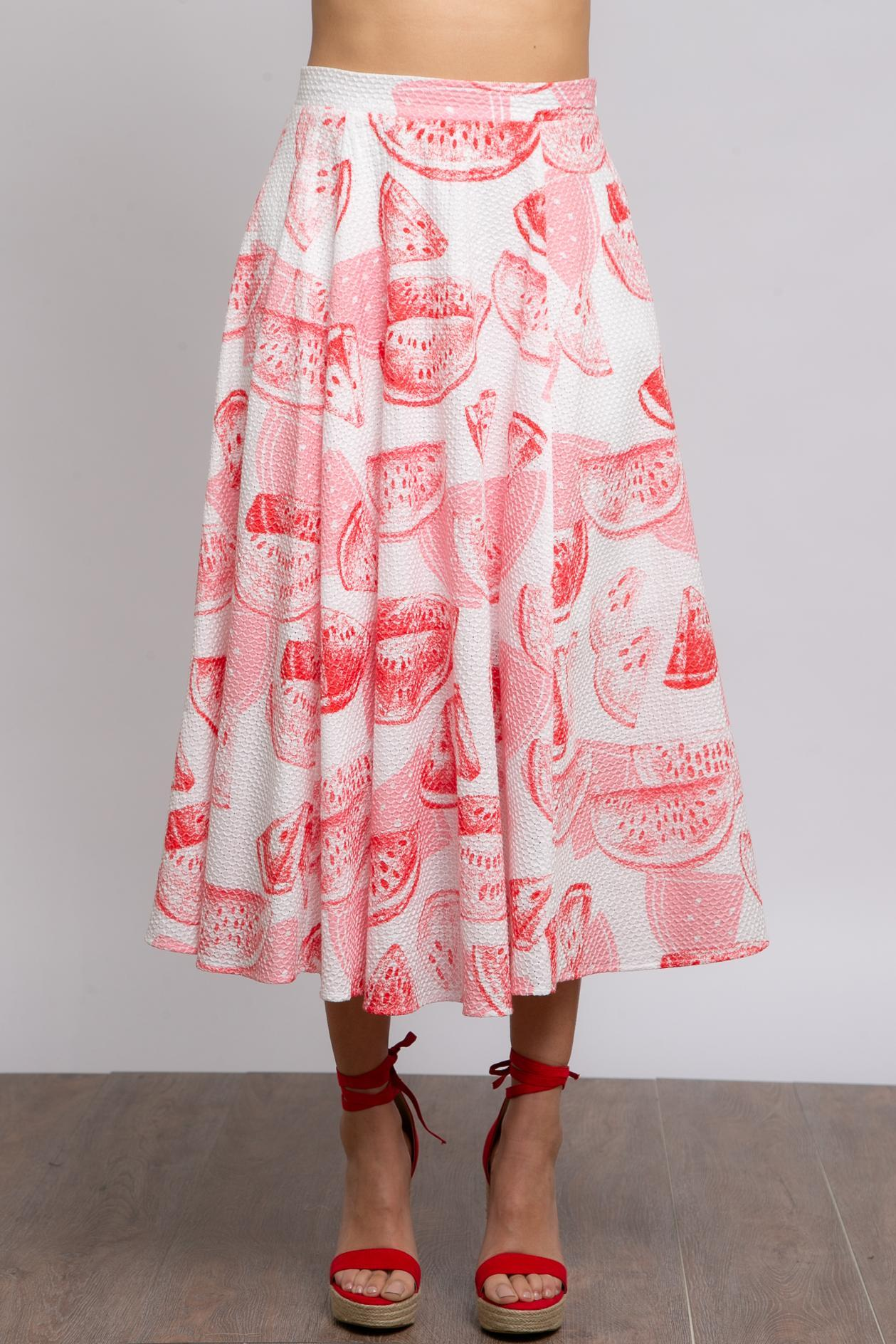 Eva Franco Skirt Daniel Skirt - Watermelon Martini