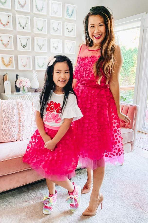 Eva Franco Girls Melody  Fuschia Petal tulle Skirt  - Girls