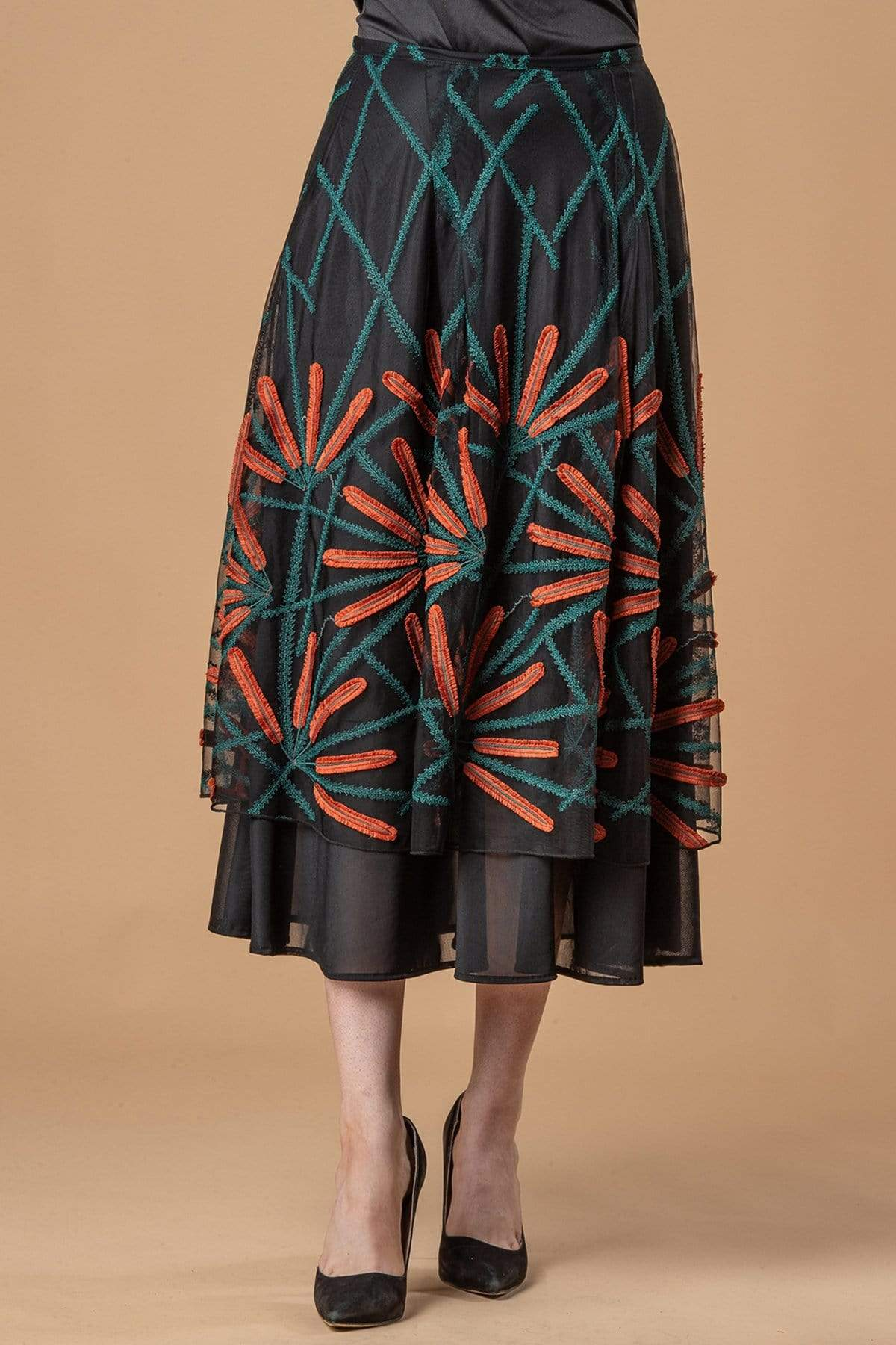 Eva Franco Skirt Flannery Skirt - Cattail