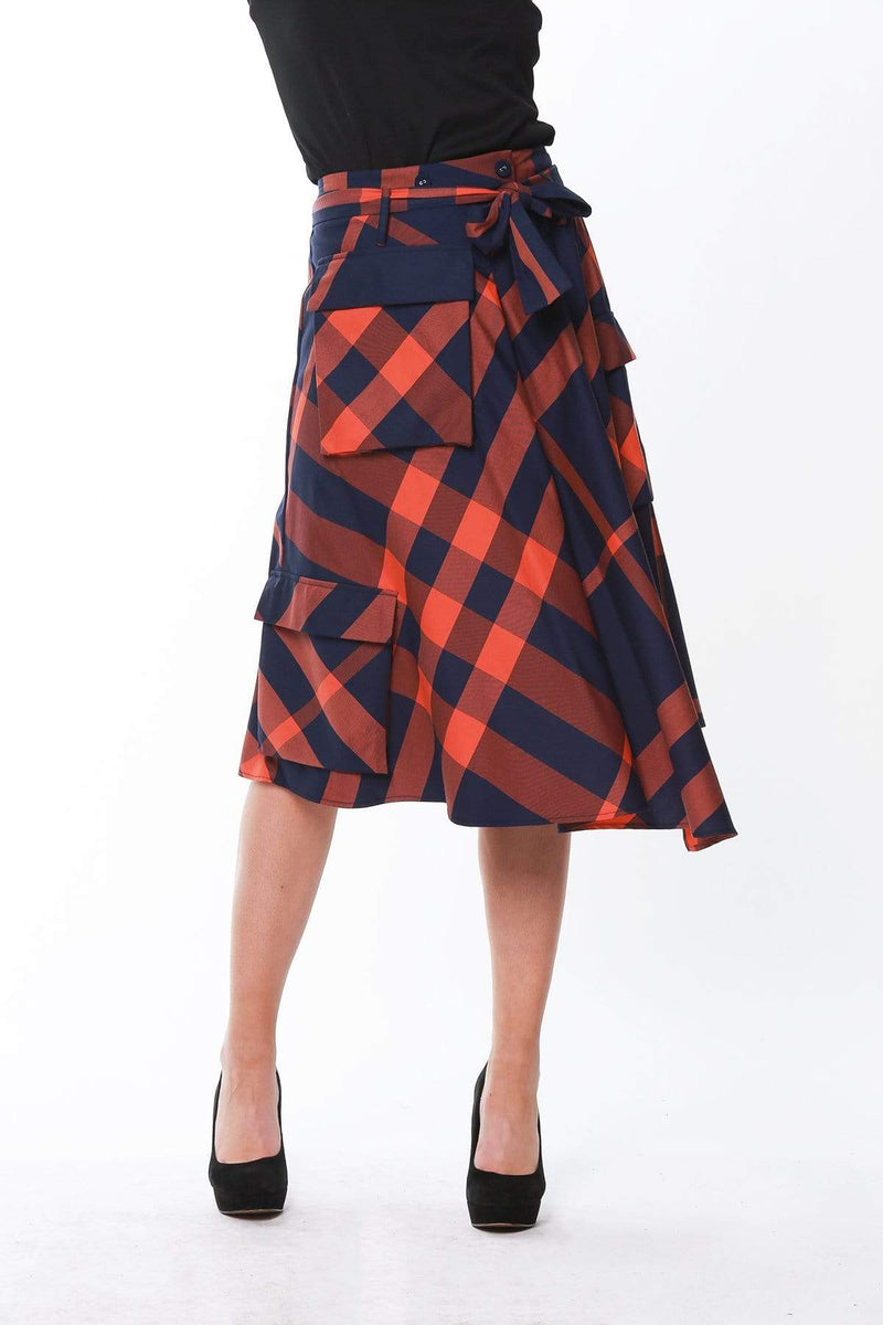 Hope Skirt - Cambridge Plaid - Eva Franco