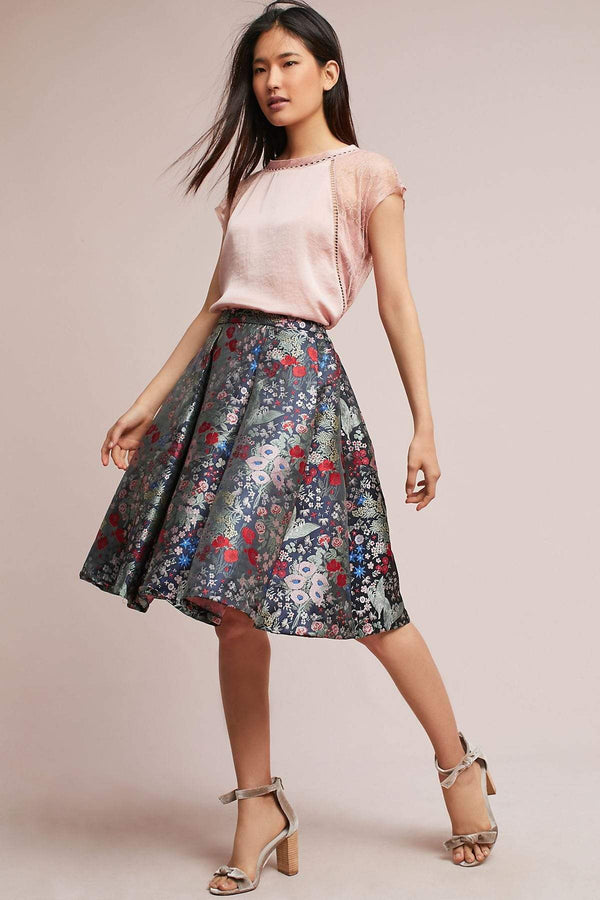 Midnight Garden Skirt - Eva Franco