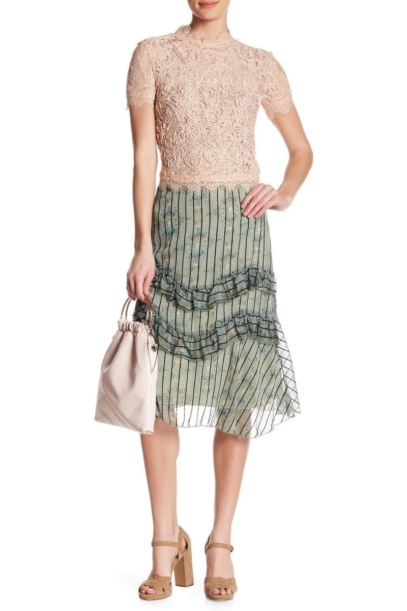 Eva Franco Skirt Ruffled Skirt - Wellington Stripe