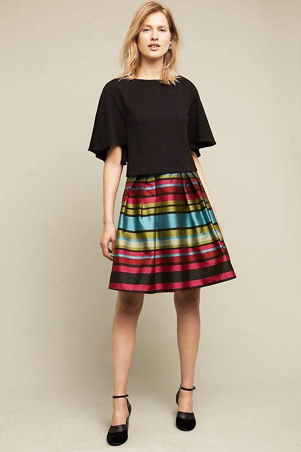 Eva Franco Skirt Stripe Taffeta Skirt