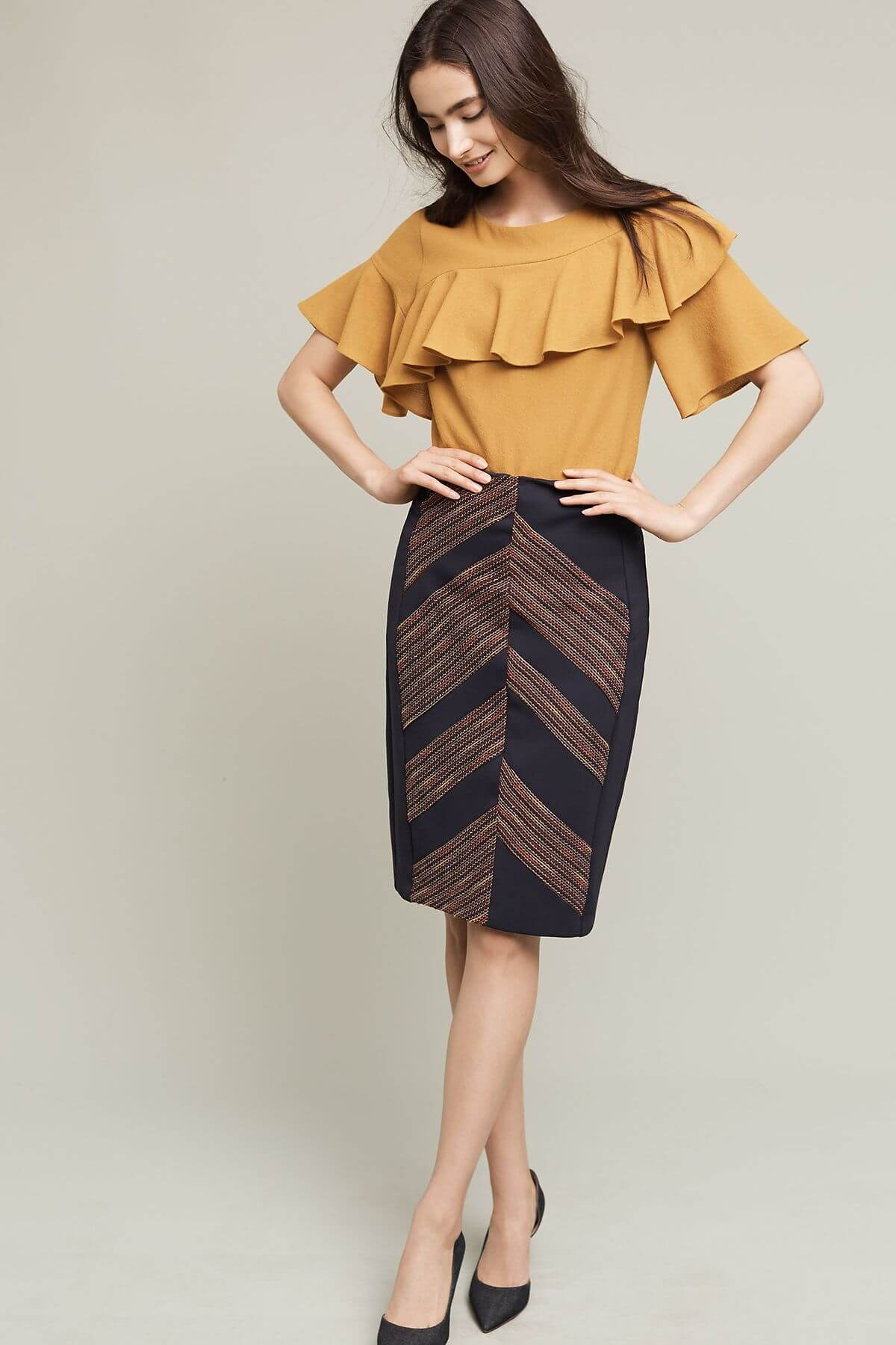 Eva Franco Skirt Western Pencil Skirt