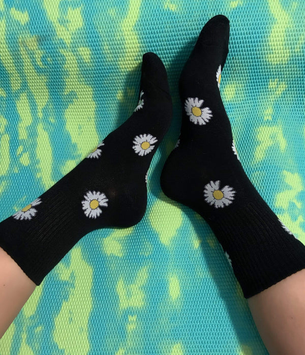Daisy Black Socks - Eva Franco