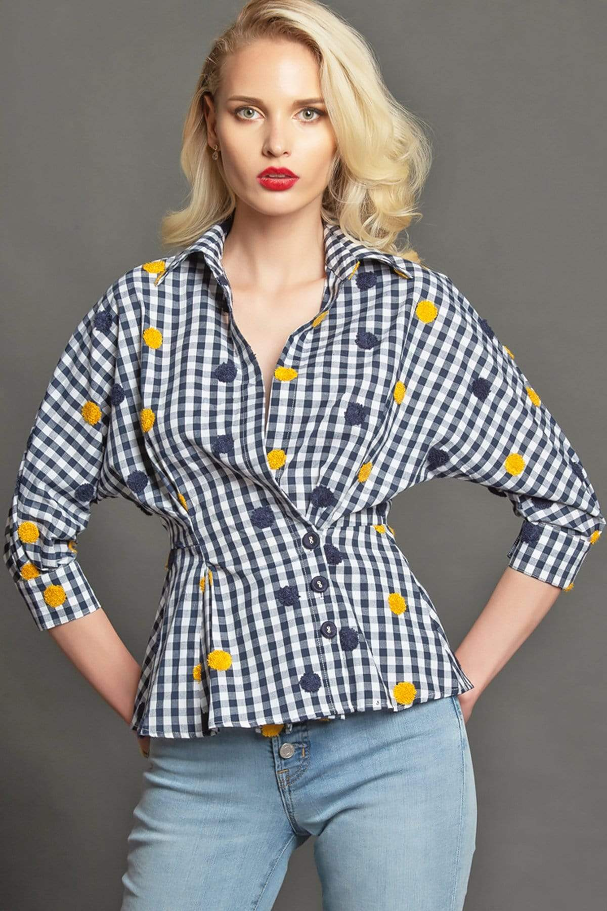 Eva Franco Top Albright Top in Savannah Gingham