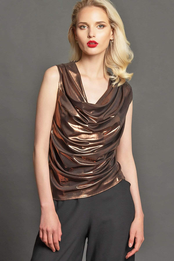 Bacall Top - Copper - Eva Franco