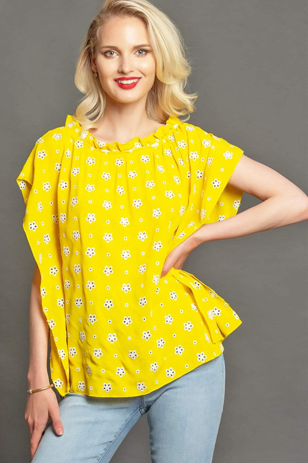 Cadence Top - Lemon Custard - Eva Franco
