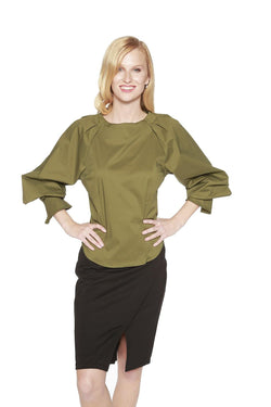 Edera Top- Olive Green - Eva Franco