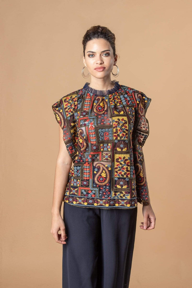 Eva Franco Top Julieta Top - Florika Paisley