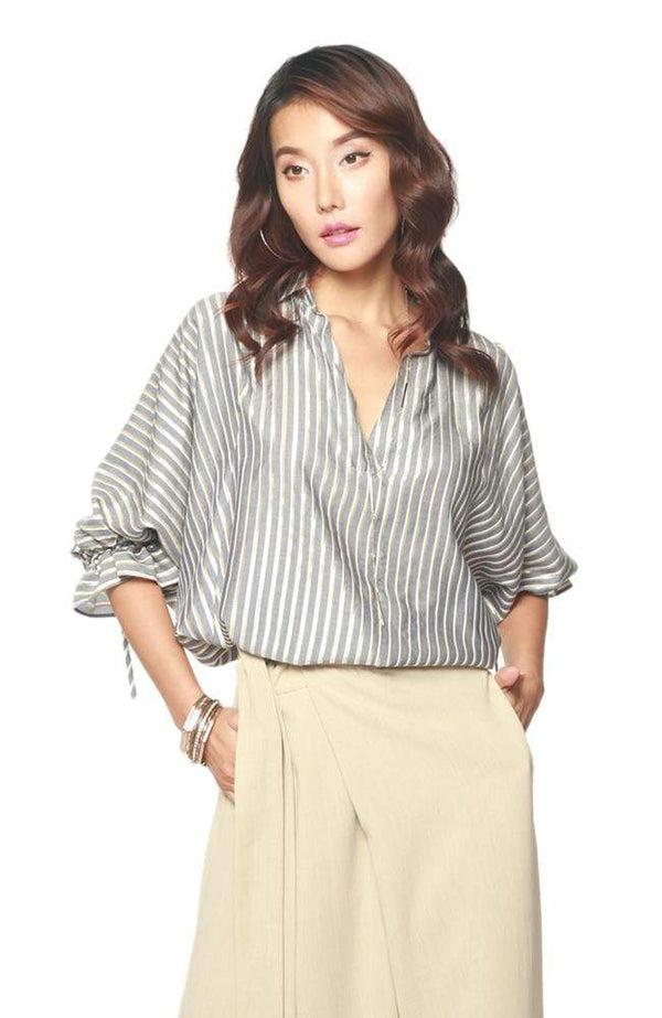 Eva Franco Top Keeley Blouse - Gibson Stripe
