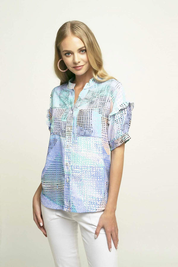 Louisa Blouse in Poppyseed Cake - Eva Franco