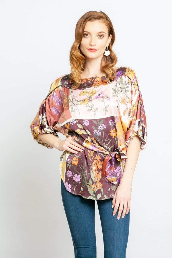 Magda Blouse in Botanical Bloom
