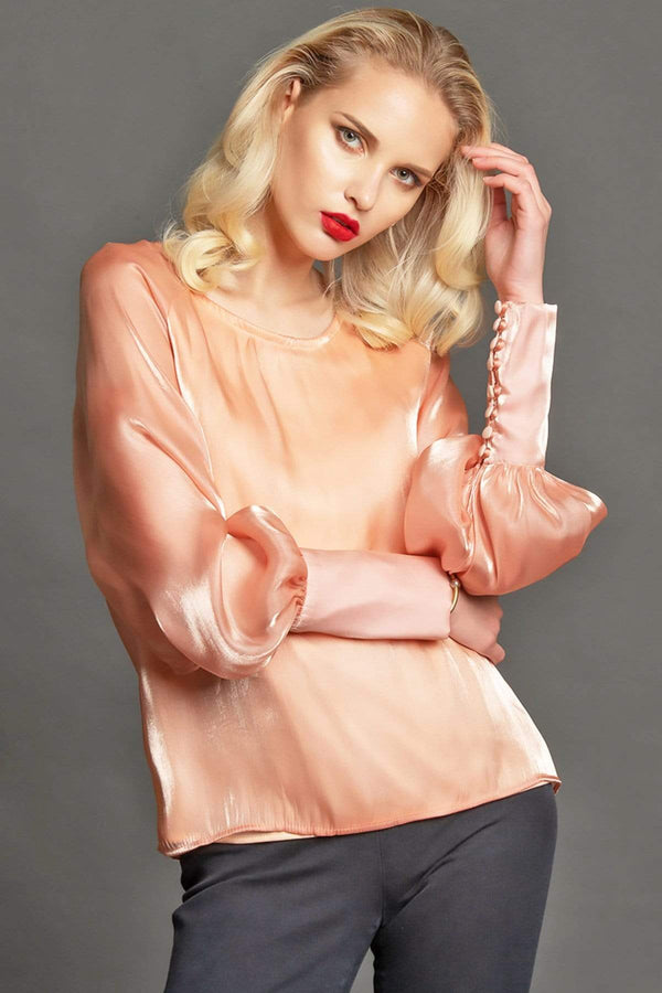 Eva Franco Top Natalie Blouse - Peach