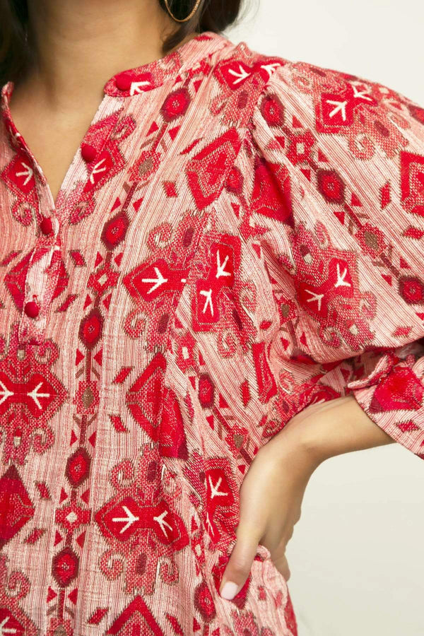 Neem Blouse in Lingonberry Pie - Eva Franco