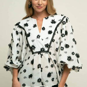 Roxy Blouse - Black Forest