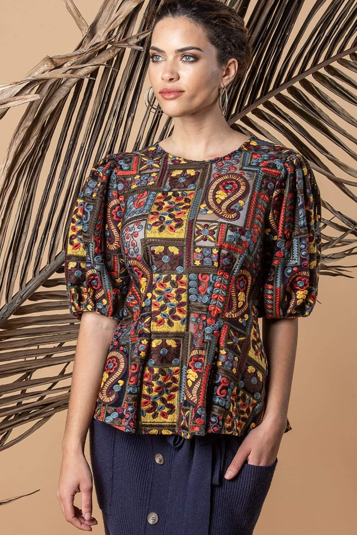 Eva Franco Top Virginia Top - Florika Paisley