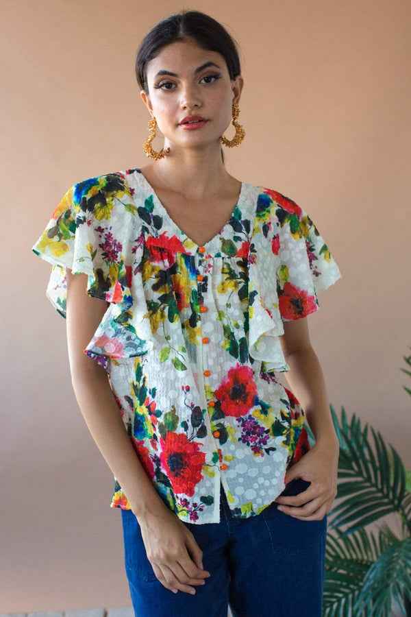 Willow Blouse - Vienna Bloom - Eva Franco