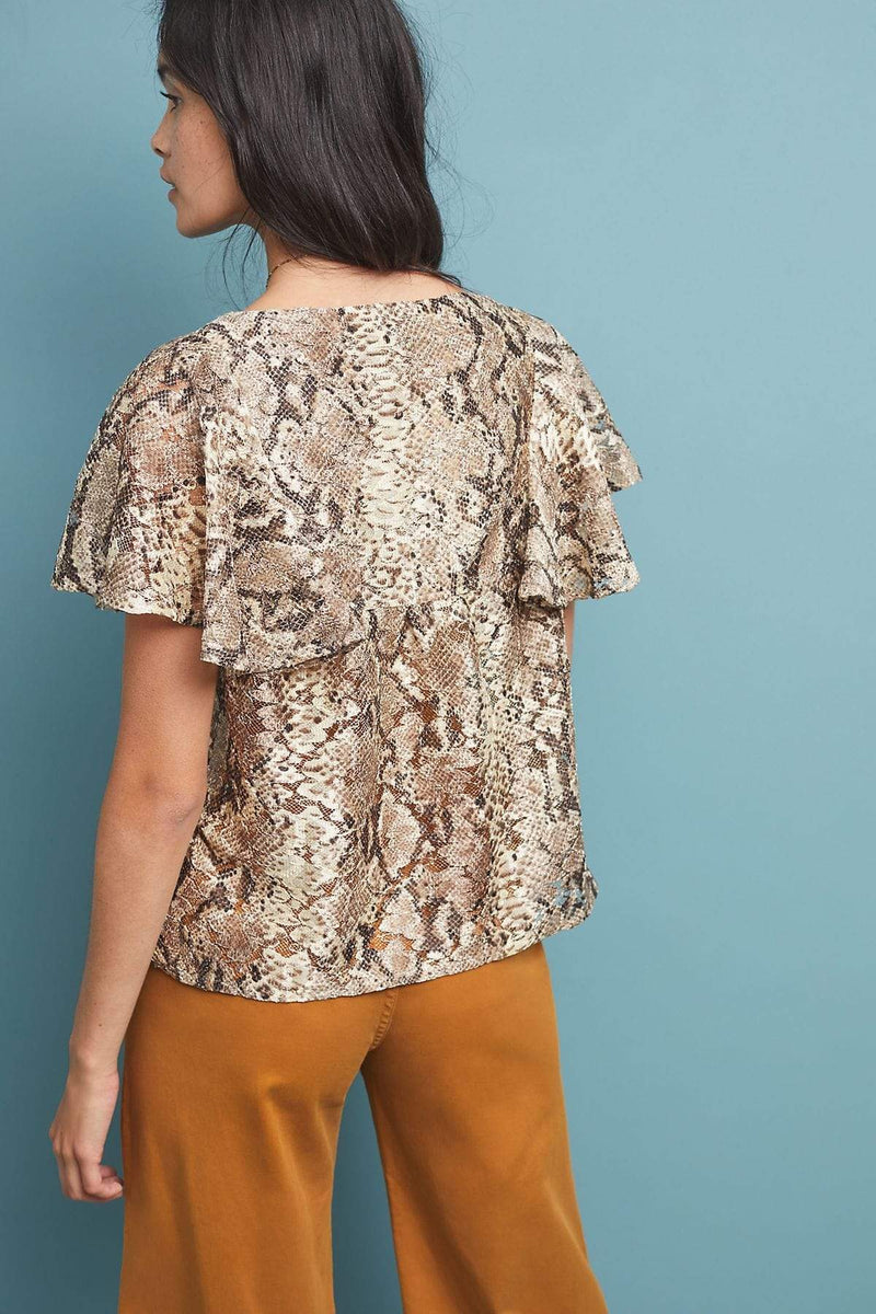 Willow Snake-Printed Blouse - Eva Franco
