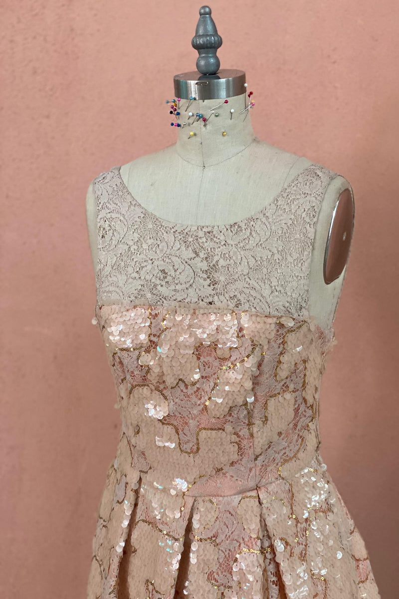 Eva Franco Warehouse Dress Pink Sequin Vintage Dress