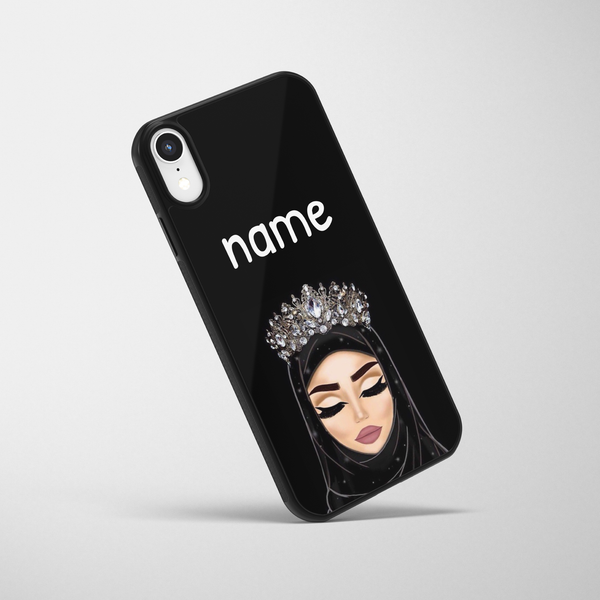 Personalised Hijabi Queen iPhone Case