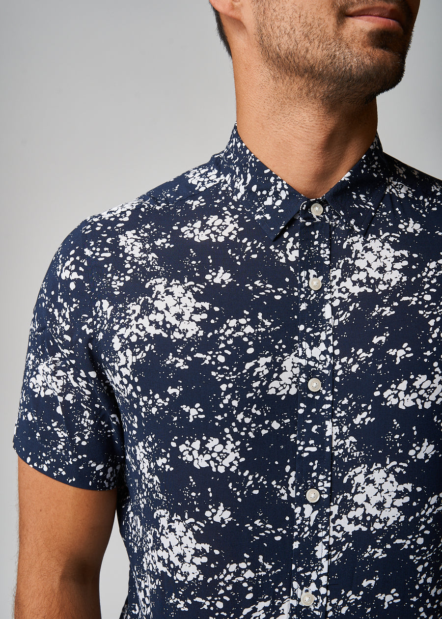 Andrew Navy Abstract Shirt