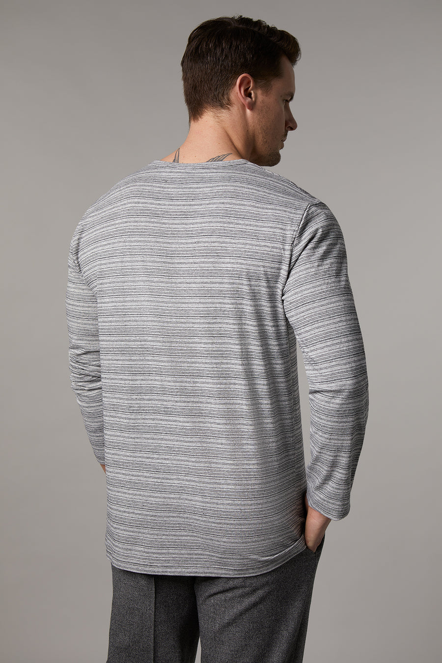 Patrick Light Grey Long Sleeve T-Shirt