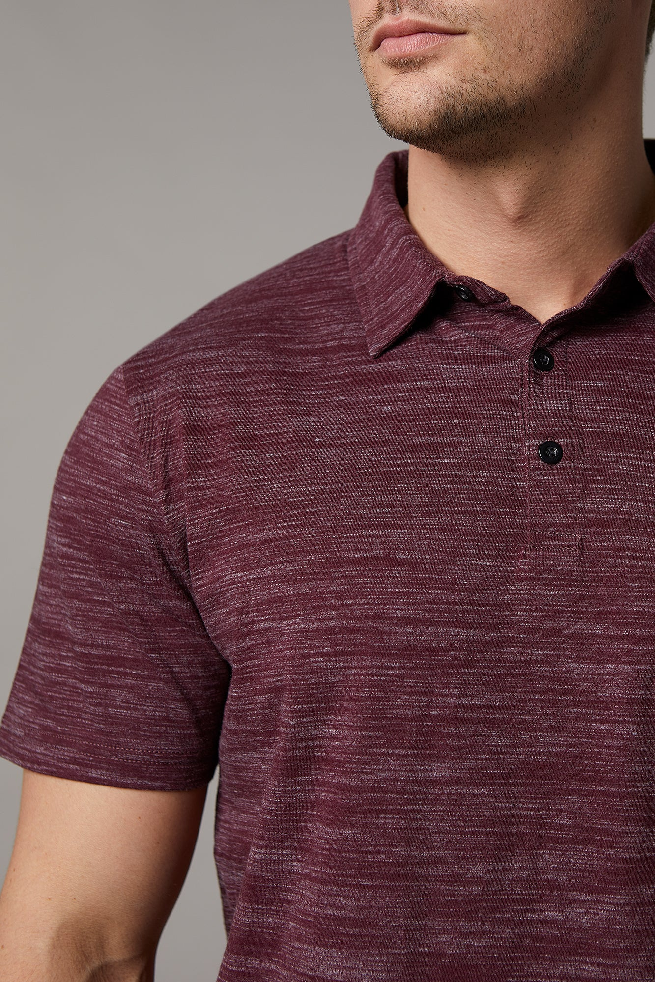 4e1c0f3b6c9c ... Load image into Gallery viewer, Johnny Cotton Melange Wine Polo ...