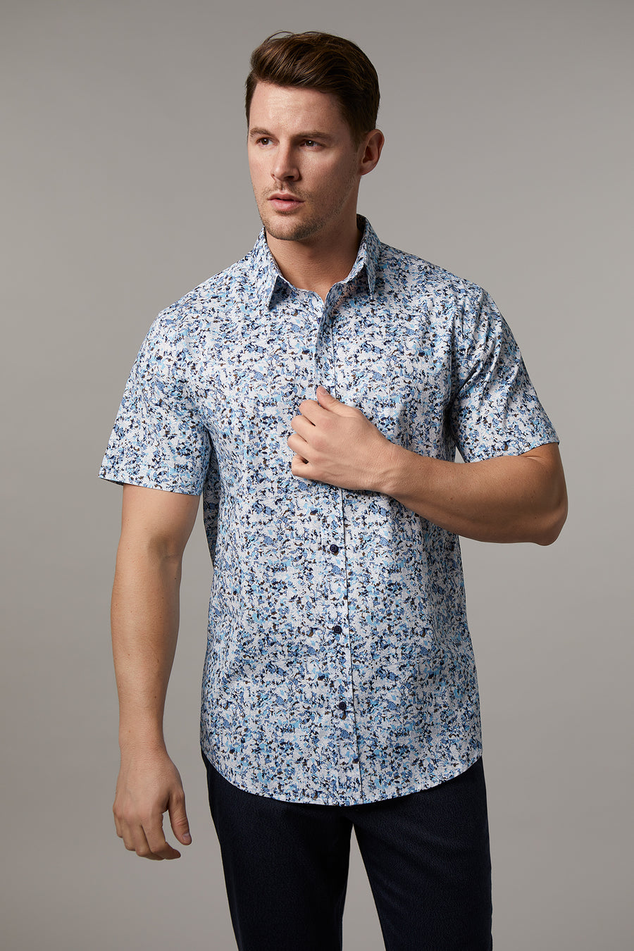 Andrew Cotton Stretch Absract Shirt