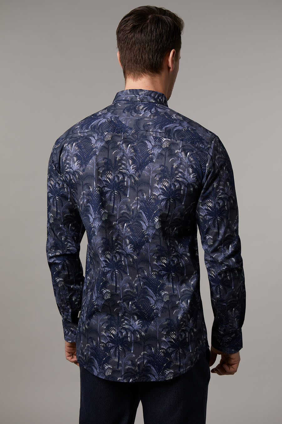 Ryan Navy Floral Shirt