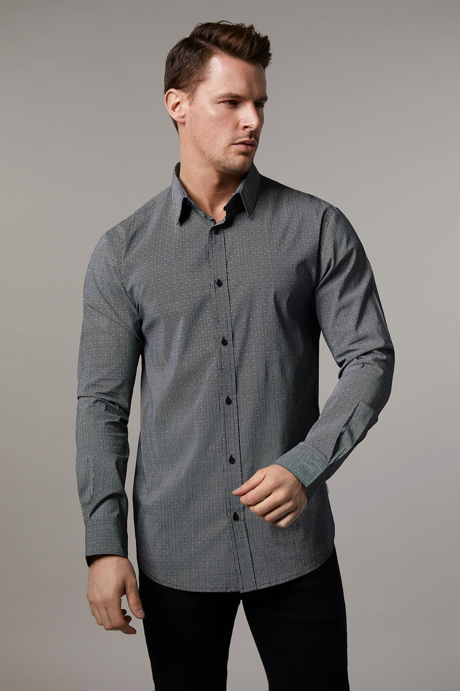 Ryan Cotton Stretch Stripe Shirt