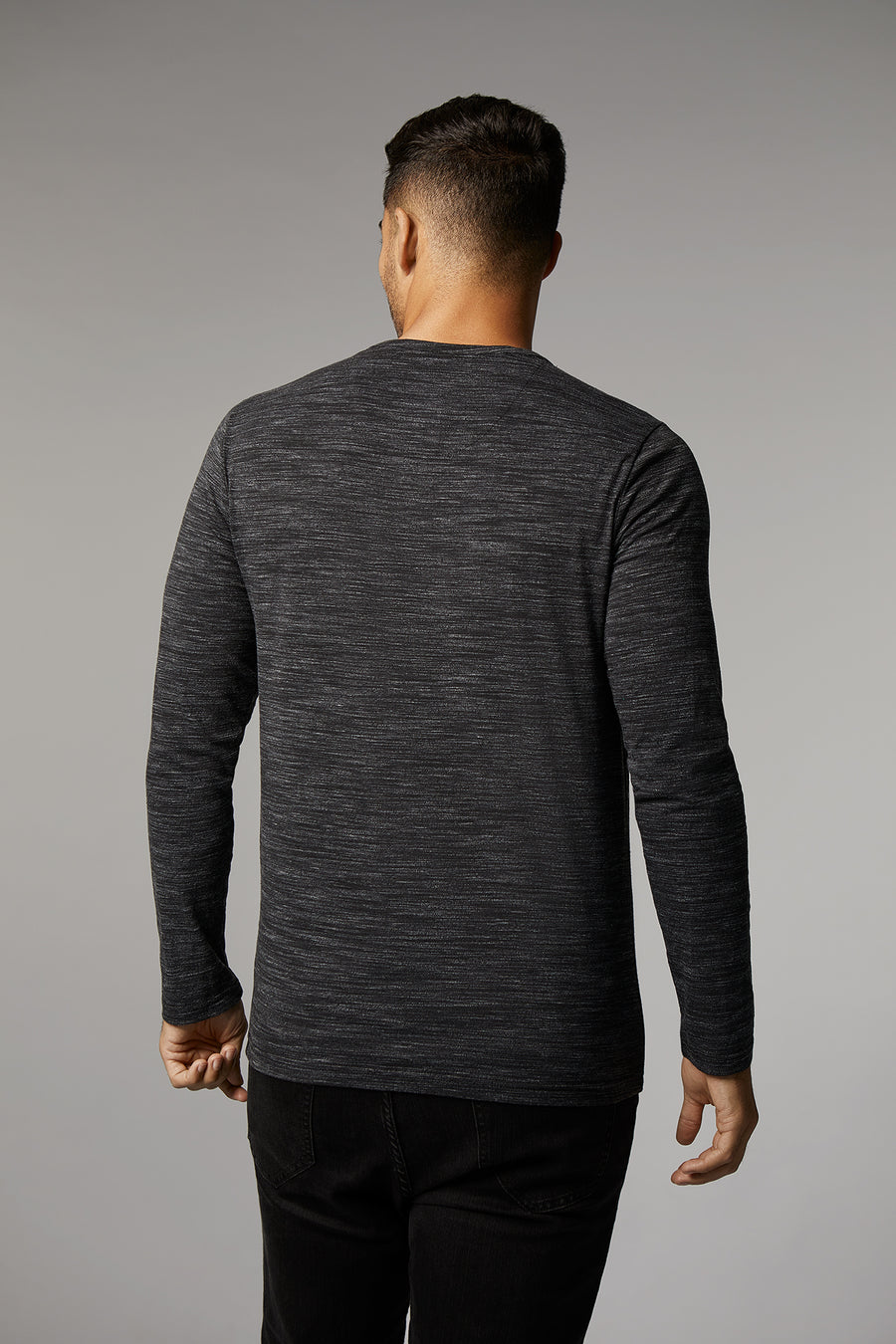 Edward Charcoal Long Sleeve Henley