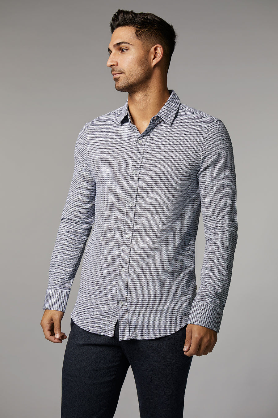 Ryan Knit Houndstooth Shirt