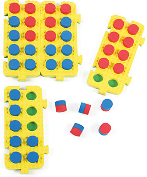 Tens-Frames Foam Connecting Boards (Set of 4)
