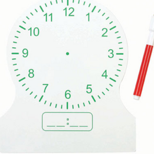Dry-Erase 12-Hour Clock