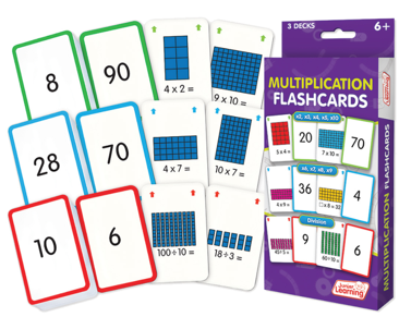 Multiplication Flash Cards (3 Sets)
