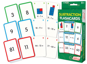 Subtraction Flash Cards (3 Sets)