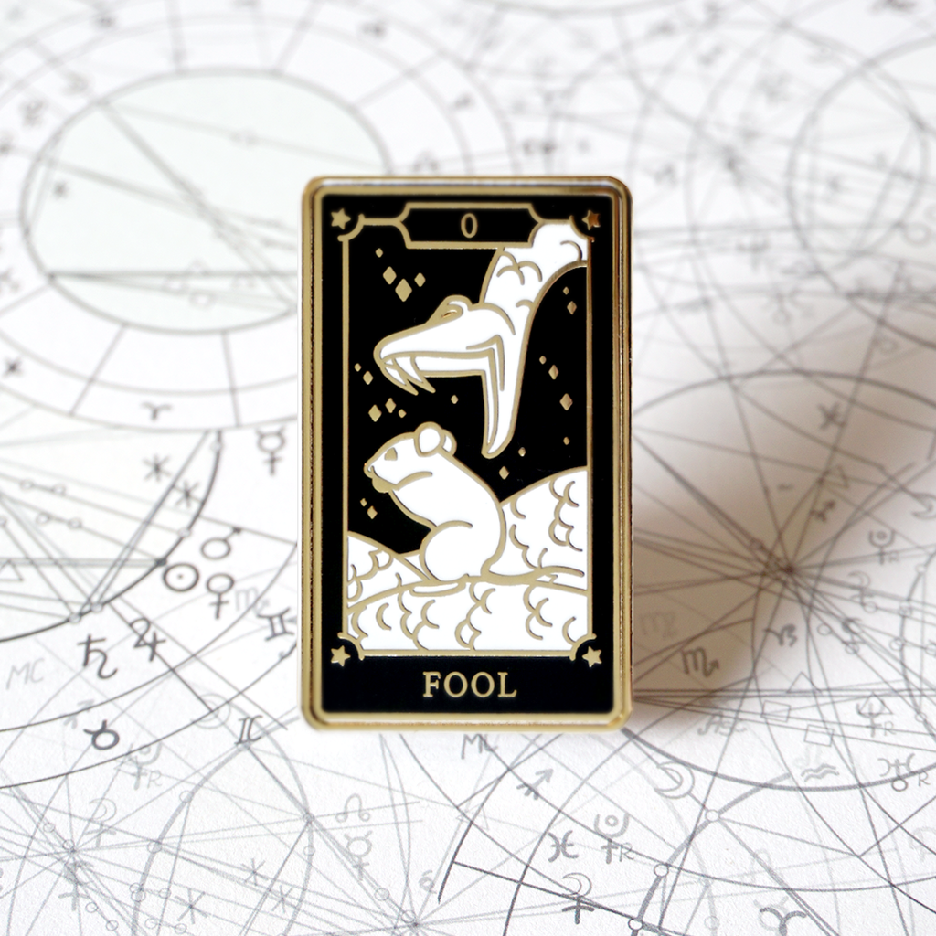 The Fool - Enamel Pin (Major Arcana) - Atelier Perséphone : bijoux, accessoires et papeterie