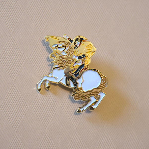 Napoléon crossing the Alps - Enamel Pin (Pocket Museum) - Atelier Perséphone : bijoux, accessoires et papeterie