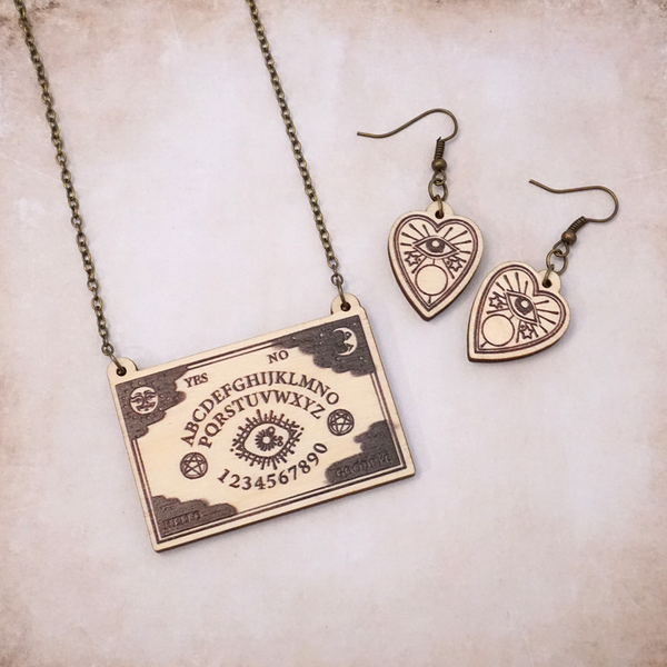 Ouija - Occult Set of Jewels - Atelier Perséphone : bijoux, accessoires et papeterie