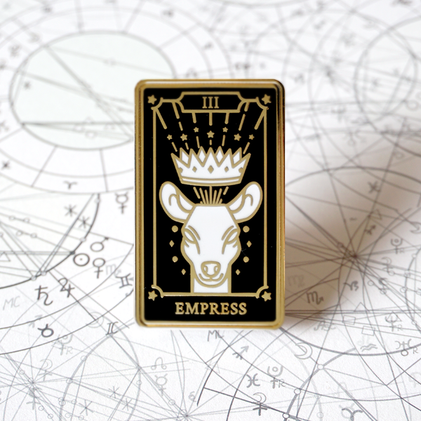 The Empress - Enamel Pin (Major Arcana) - Atelier Perséphone : bijoux, accessoires et papeterie