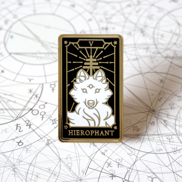 The Hierophant - Enamel Pin (Major Arcana) - Atelier Perséphone : bijoux, accessoires et papeterie
