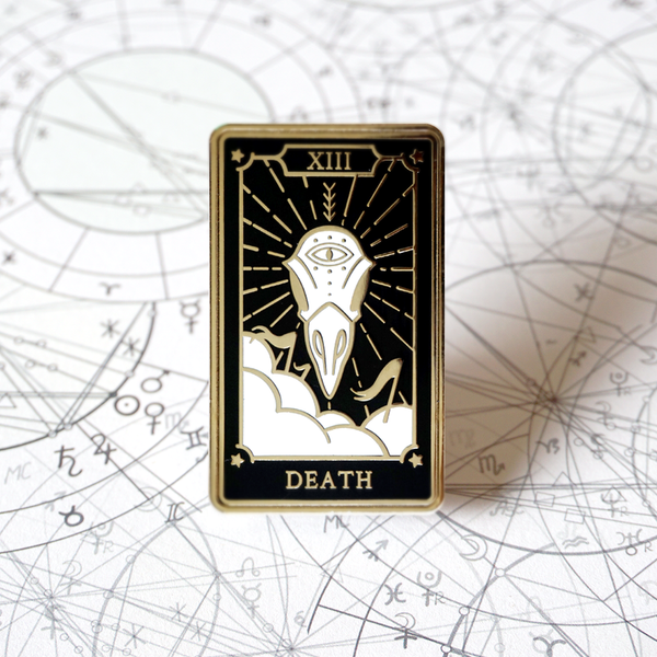 The Death - Enamel Pin (Major Arcana) - Atelier Perséphone : bijoux, accessoires et papeterie