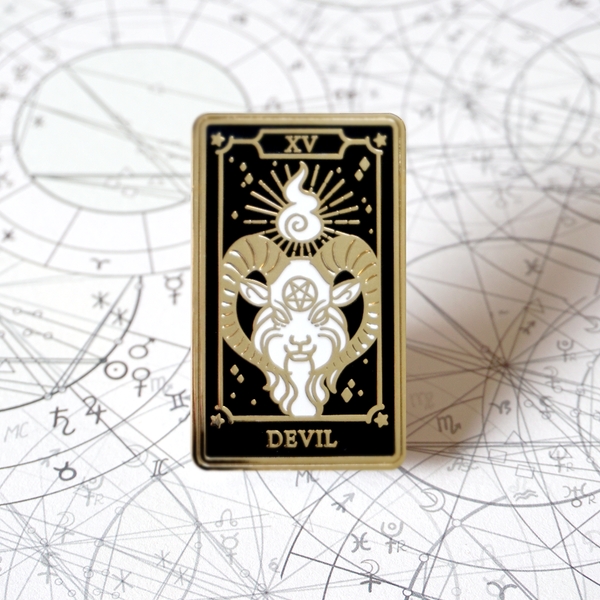 The Devil - Enamel Pin (Major Arcana) - Atelier Perséphone : bijoux, accessoires et papeterie