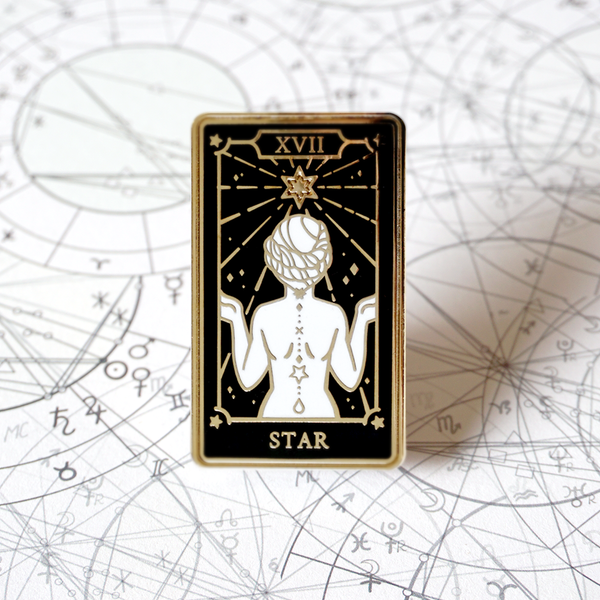 The Star - Enamel Pin (Major Arcana) - Atelier Perséphone : bijoux, accessoires et papeterie