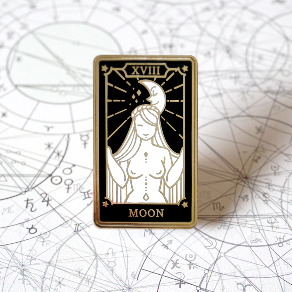 The Moon - Enamel Pin (Major Arcana) - Atelier Perséphone : bijoux, accessoires et papeterie
