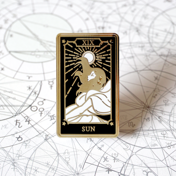 The Sun - Enamel Pin (Major Arcana) - Atelier Perséphone : bijoux, accessoires et papeterie