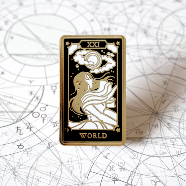 The World - Enamel Pin (Major Arcana) - Atelier Perséphone : bijoux, accessoires et papeterie